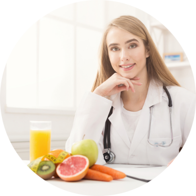A female nutrition expert having fruits on her table at Petracco Chiropractic Center Jersey City NJ