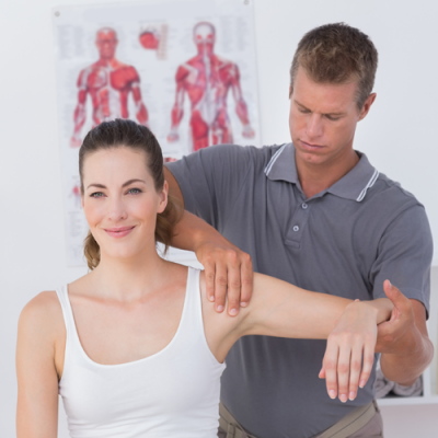 A happy lady getting pain relief from our expert physical therapist at Sun Up Healthcare Jersey City NJ