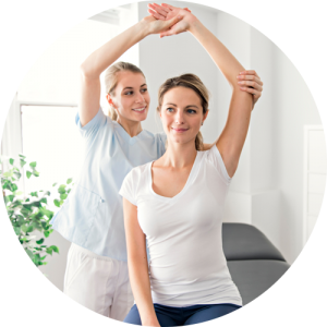 A lady is feeling fabulous by getting physical therapy at De La Torre Chiropractic Center in Totowa NJ