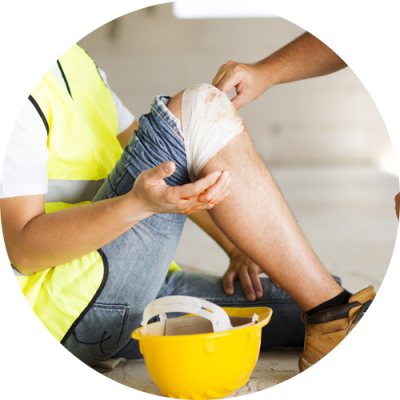 A worker got 'knee injury' at his workplace thinking for the treatment at Light Touch Rehabilitation Center Bloomfield NJ