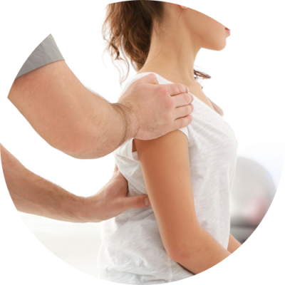Our Specialist providing chiropractic therapy for the chronic pain to a young girl at Advanced Rehabilitation of Jersey City NJ
