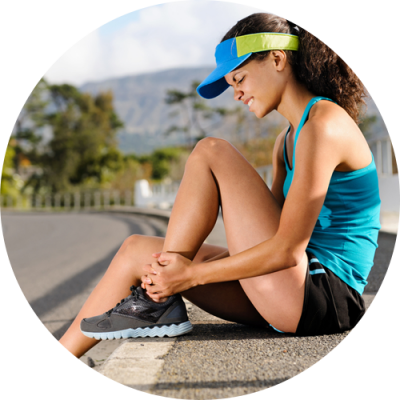 young female athlete feeling pain after a sports injury and thinking about sports injury Physical therapy treatment